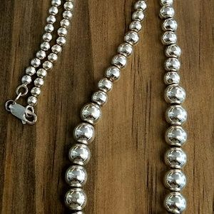 Jewelry - Sterling 925 Beaded Necklace